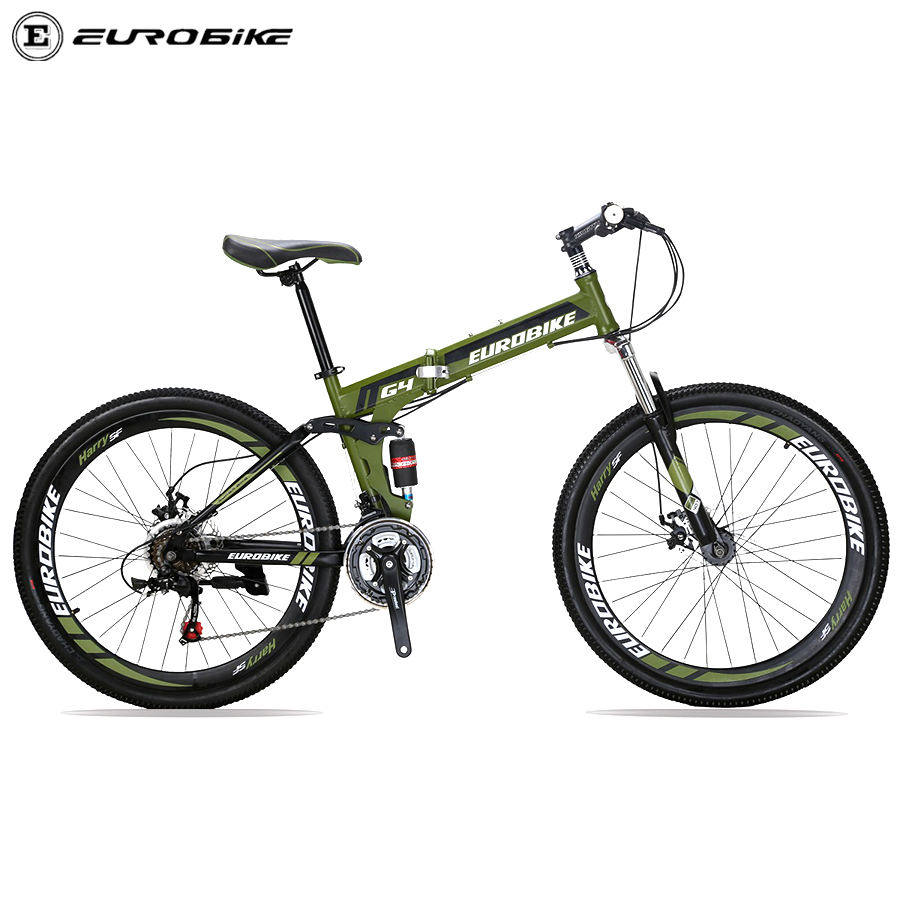 Factory Directly Eurobike G4 26 Folding mountain bike full suspension bicycle Bicicleta Men Steel Style 21spd Gears