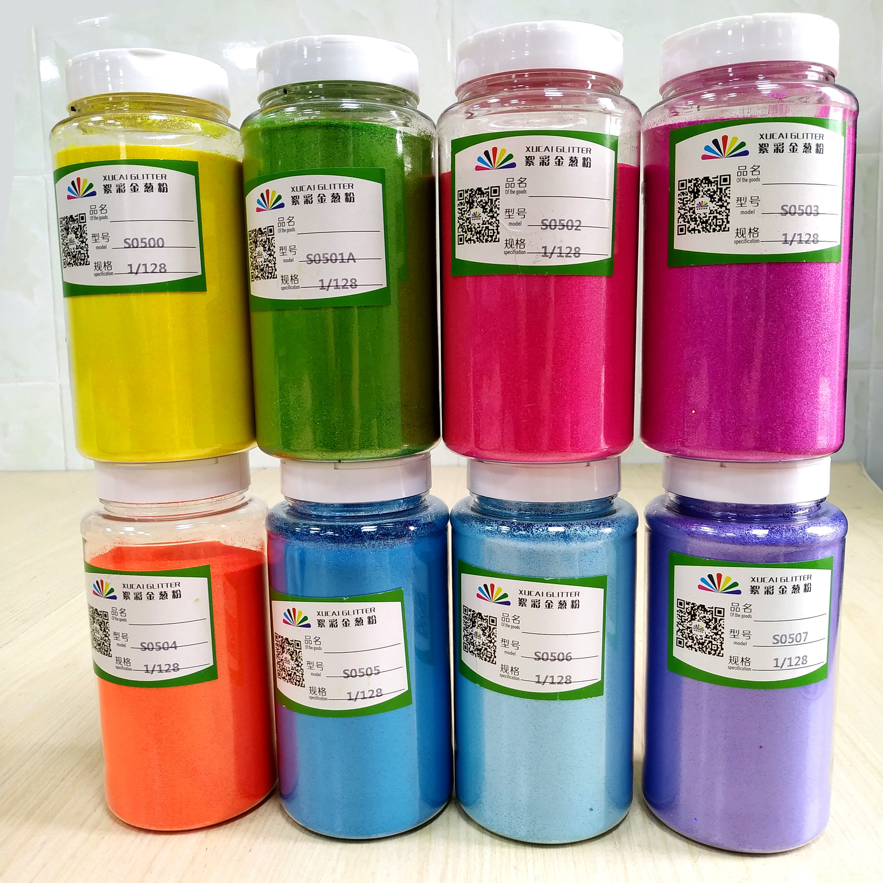 factory direct sale gifts bulk craft pearl fluorescent rainbow green glitter christmas and party decoration neon glitter