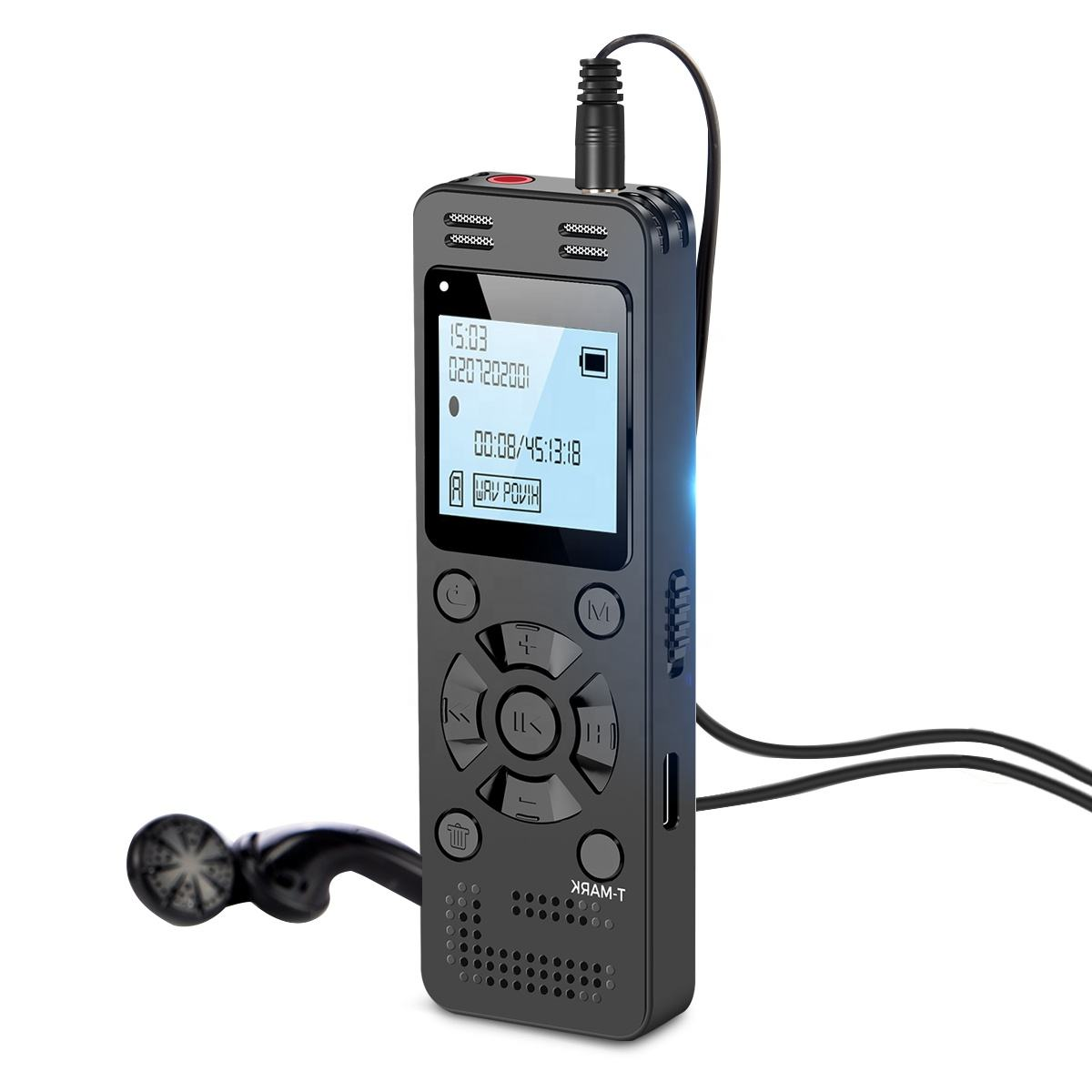 Aomago High Quality 32GB Rechargeable Dictaphone High Sensitive Voice Activated Recording Digital Voice Recorder for Lectures
