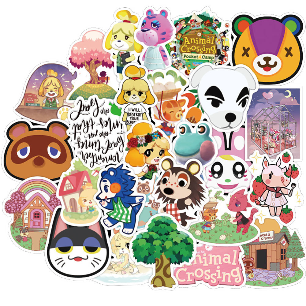 50PCS Animal Game Stickers Skateboard Fridge Guitar Laptop Motorcycle Travel Luggage Classic Toy Sticker for Kid Gift