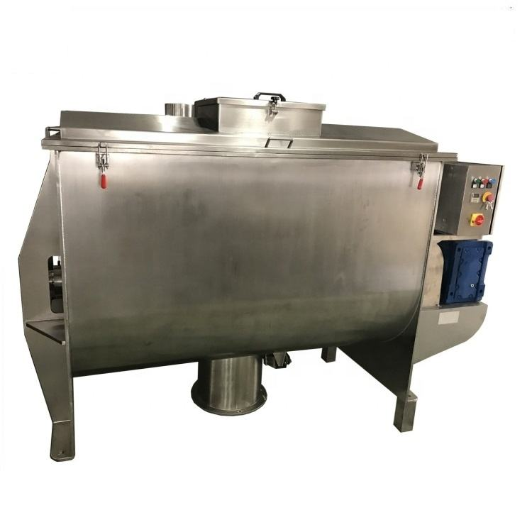 China stainless steel dry goat milk powder twin ribbon agitation mixer