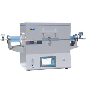 CE Certified PID Controlled Laboratory Tube Type Dual Zones Electric Furnace