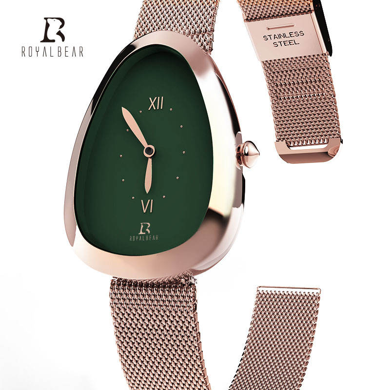 ROYAL BEAR 2020 New stainless steel heart Fashion luxury quartz wrist watch for Lady women female china wholesale manufacturer