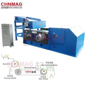 Eddy Current Separator - Separating copper  aluminum  stainless steel and iron