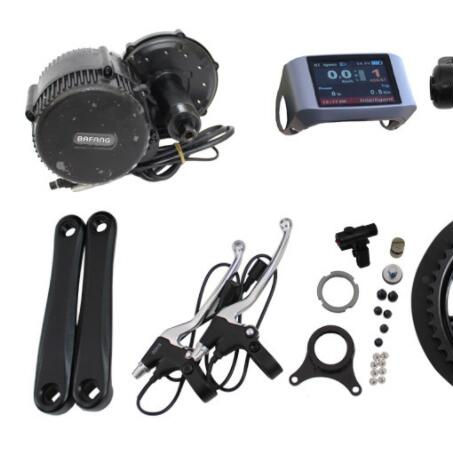48V 1000W BAFANG Mid Drive Electric Bike Conversion Kit Ebike Motor Kit