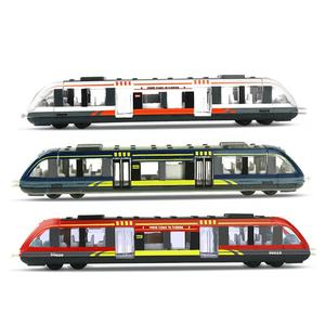 On Sale!!!Magnetic Subway Train Modern Locomotives Pull Back Toy Bullet City Train High Speed Train Toys for Kids