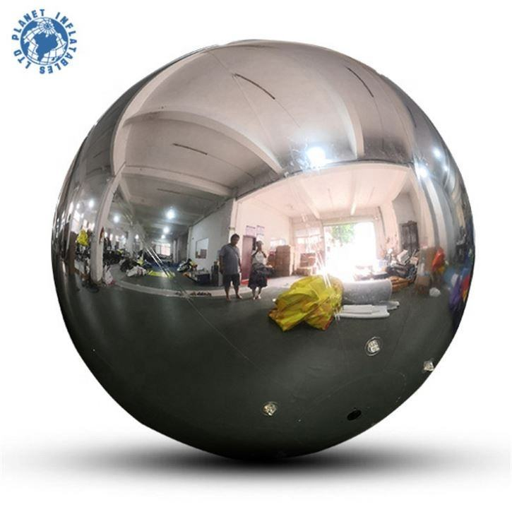 High Quality PVC 80cm Mirror Ball Inflatable Floating Mirror Balloon For Sale