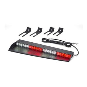 Red and White police car windshield flash strobe warning light LED interior bar