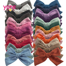 Yane new fashion Linen cotton cloth little bow hair clip new style