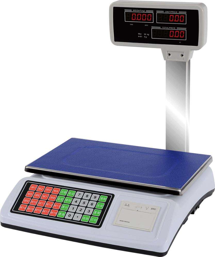 50kg Digital Label Printing Scale Retail Printing Scale for Supermarket use