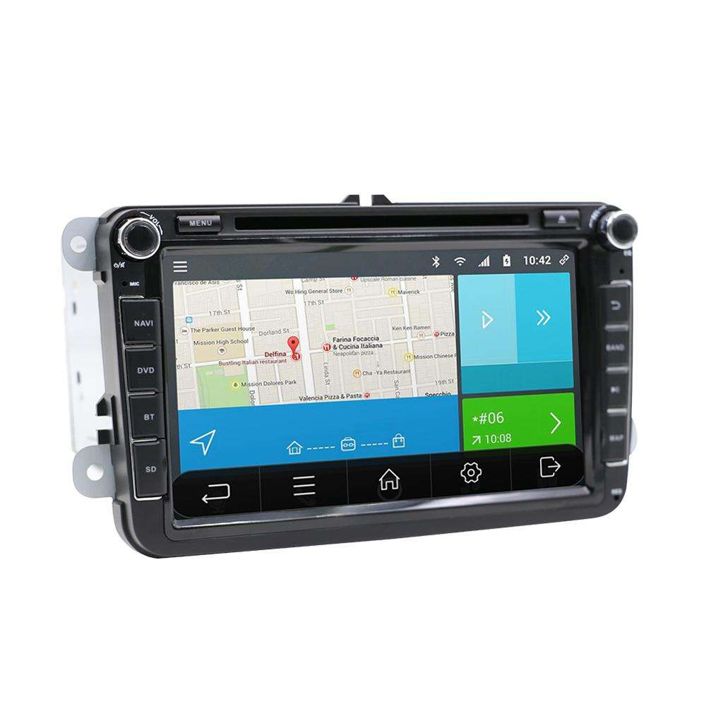 8 zoll Auto DVD GPS Navigation auto audio für <span class=keywords><strong>VW</strong></span> serie mit <span class=keywords><strong>Bluetooth</strong></span> Radio Spiegel Link androud 10,0 auto video multimedia