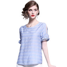 Fashion Women Summer Blouse Off Shoulder Loose Shirt Female Tops Striped Shirts