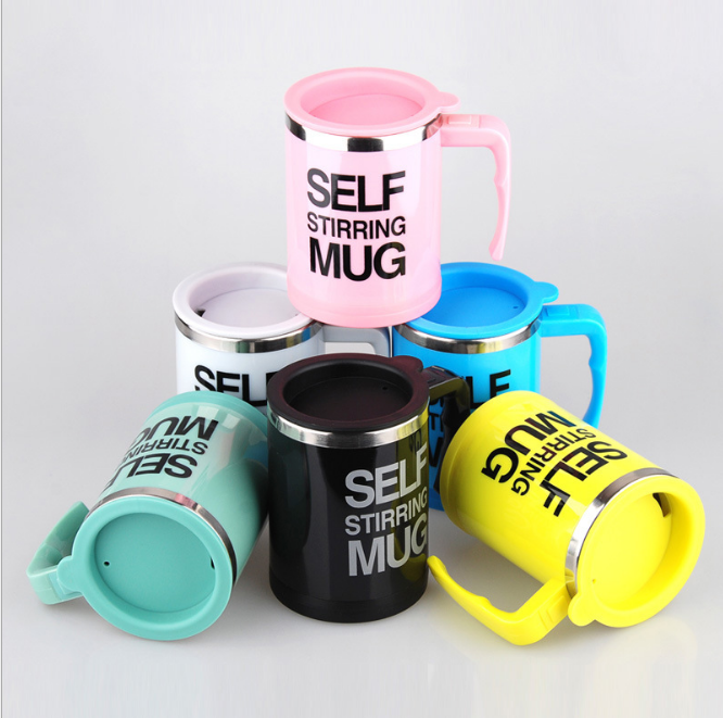 New Design Office Plastic Mug Cup Insulated Tea Thermos Stirring Mugs with Handle for Stainless Steel Coffee Mugs