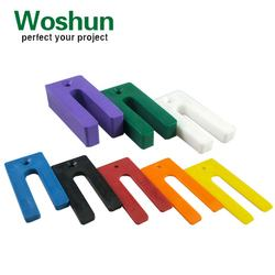 75x35mm plastic packer shim Window  packer shim Levelling shim packer Frame door packer shim  Horseshoe plastic packer shim