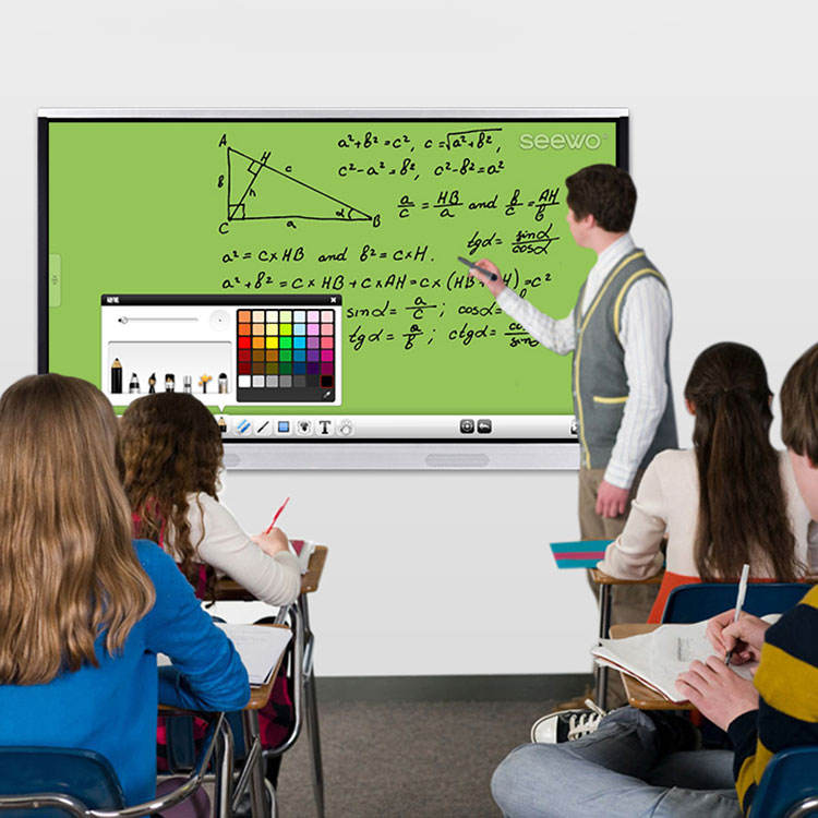 classroom with smartboard clipart - 750×750