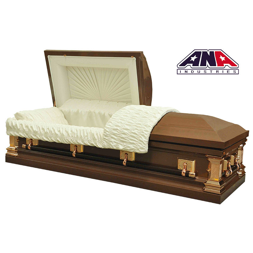 ANA made in china US style funeral urns wholesale 18 Ga Steel metal burial Casket