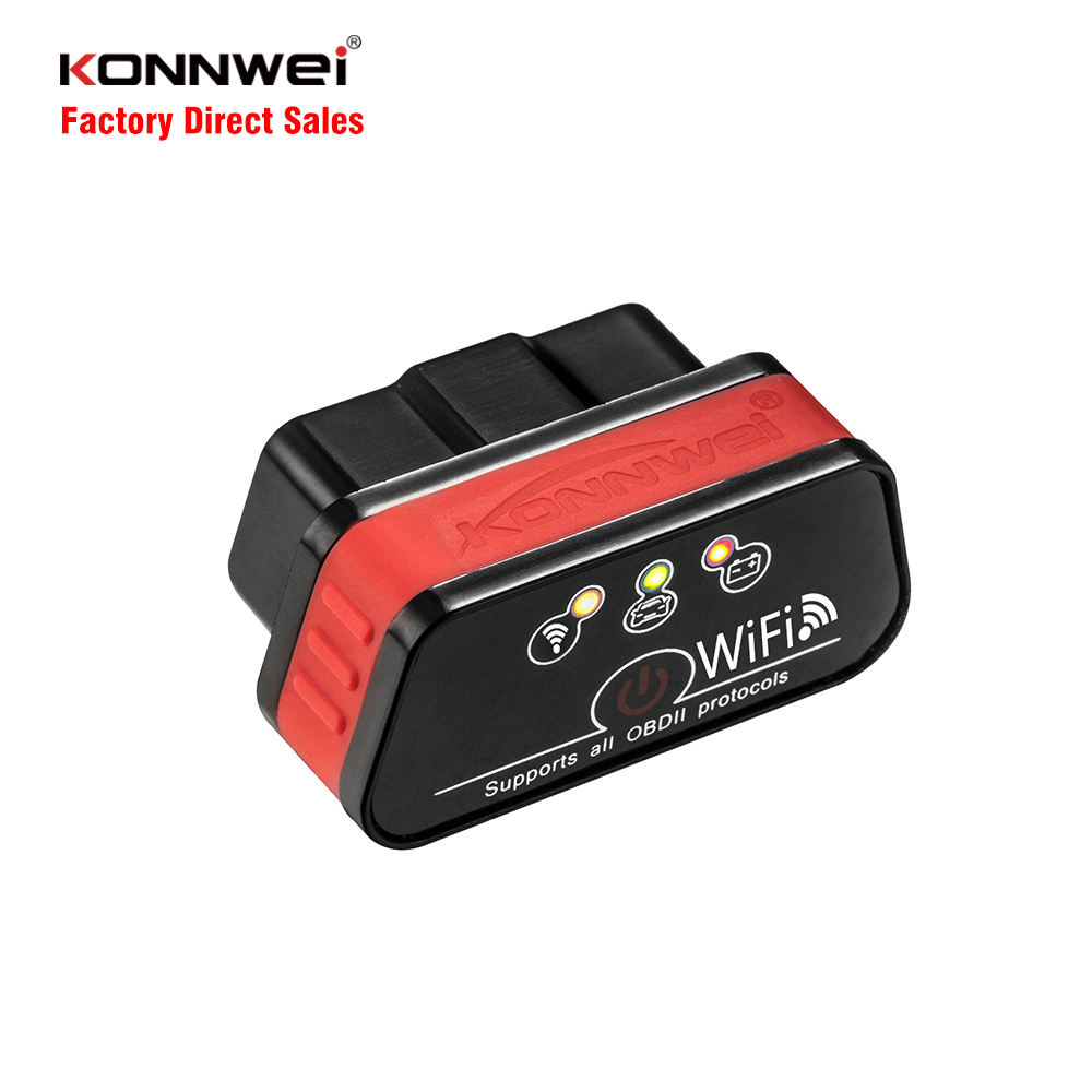 Powerful function diagnostic DTC lookup review data system setup auto car diagnostic tool KONNWEI KW901 WIFI check car engine