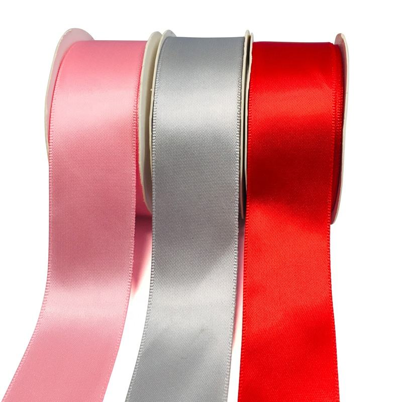 Wholesale Small MOQ 1 Roll 196 Colors 19 Sizes Single Double Face Luxury Satin Ribbon,Polyester satin ribbon