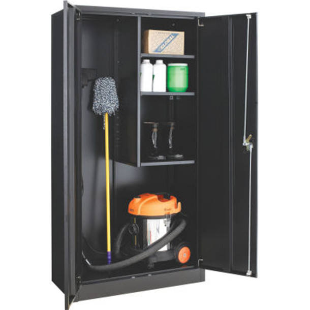 Steel Cleaning Cupboard Design Clean Tools Storage cabinets for Cleaning Supplies Easy Assembly Janitorial Supply Cabinet