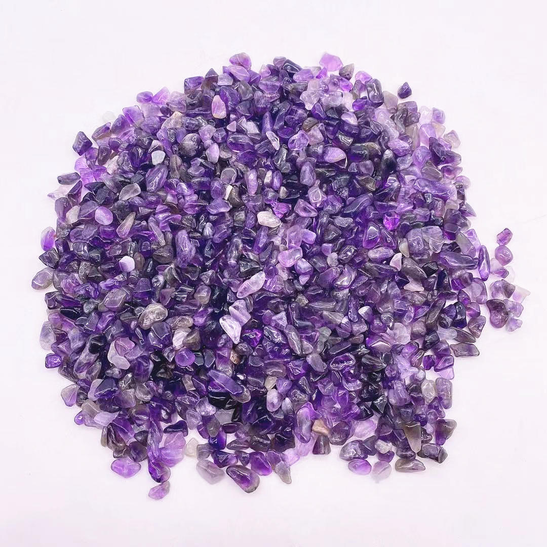 Hot Sale High Quality Amethyst Spiritual Healing Gravel Hand Polished Amethyst Tumble Stone Crystal Home Decor