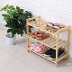 One-Stop Service Shoe Cabinet Rack RTS Product High Quality Kitchen Living Room 3tiers Wooden Shoe Cabinet Storage Display Racks