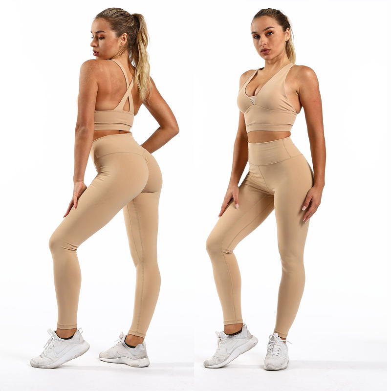 2021 Wholesale Sexy Bodybuilding Ladies Girls Yoga Clothing OEM Custom High Quality Fitness Women Yoga Set