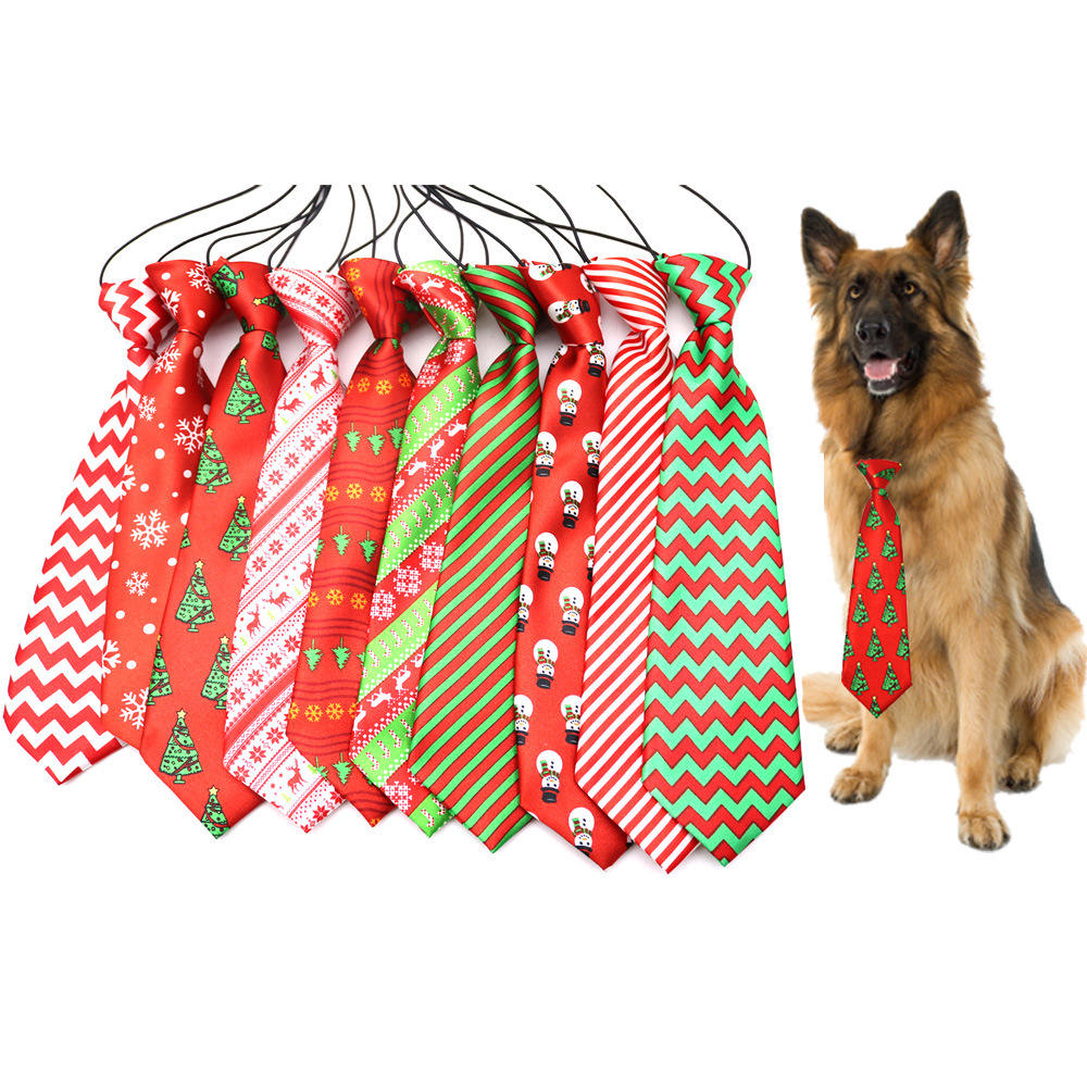 Christmas pet accessories gift large pet christmas dog ties