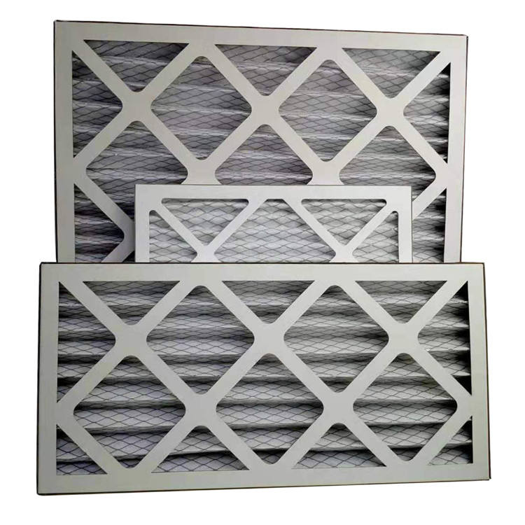 HVAC Cardboard Pleat Panel Air Filter for Ventilation System