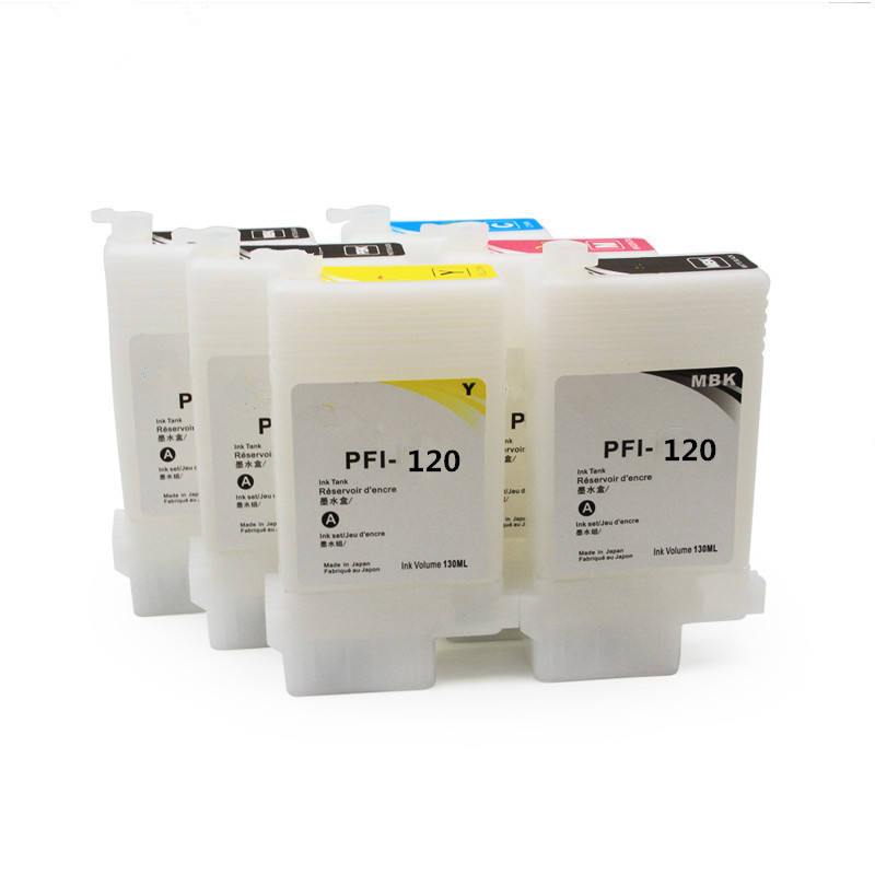 OCBESTJET 6 colores 130 ml/unid para Canon PFI 120 PFI120 cartucho de tinta rellenable con Chip para Canon TM-200 205, 300 impre