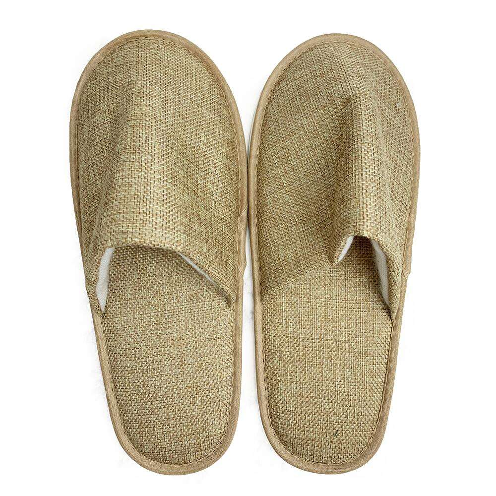 100% natuurlijke jute bamboe biodegradable slipper (spa, hotel, indoor)