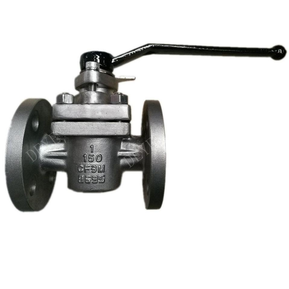 soft sleeve ANSI 150lbs Plug valve with lever Operated