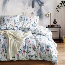 100% Polyester Microfiber Duvet Cover Bed Set, Printed Queen/King Size