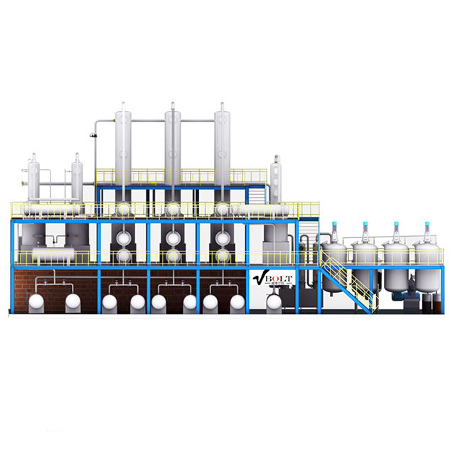 Vbolt Small scale refinery convert crude oil to diesel petroleum refining plant