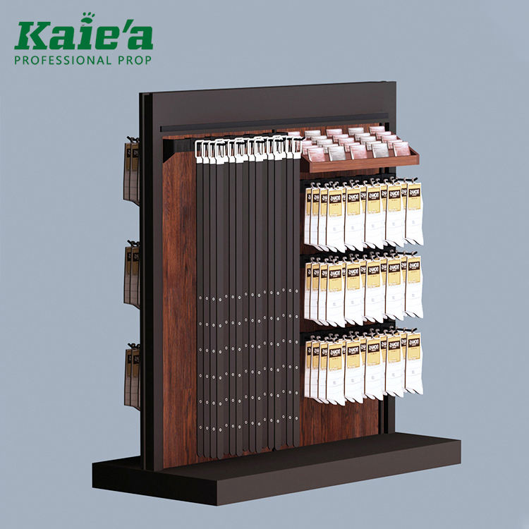 Men clothes shop leather belt display stand for retail