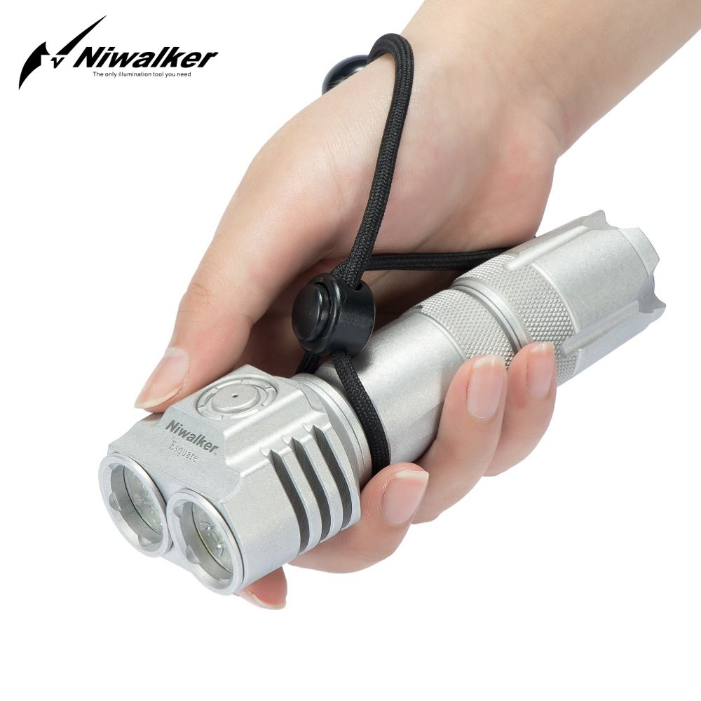 Niwalker ET3 5500 Lumens Flashlight Torch Double headed High Power USB Rechargeable Mini Multipurpose 21700 Special Edition