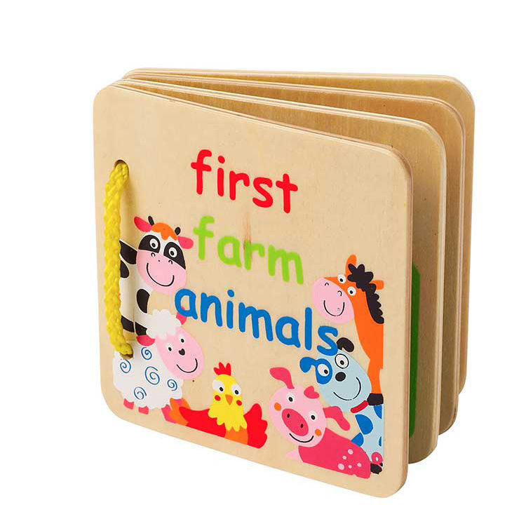 Wholesale Customization Vegetables Cognitive Toy Mini Fruit Wooden Puzzle Kids Learning Books
