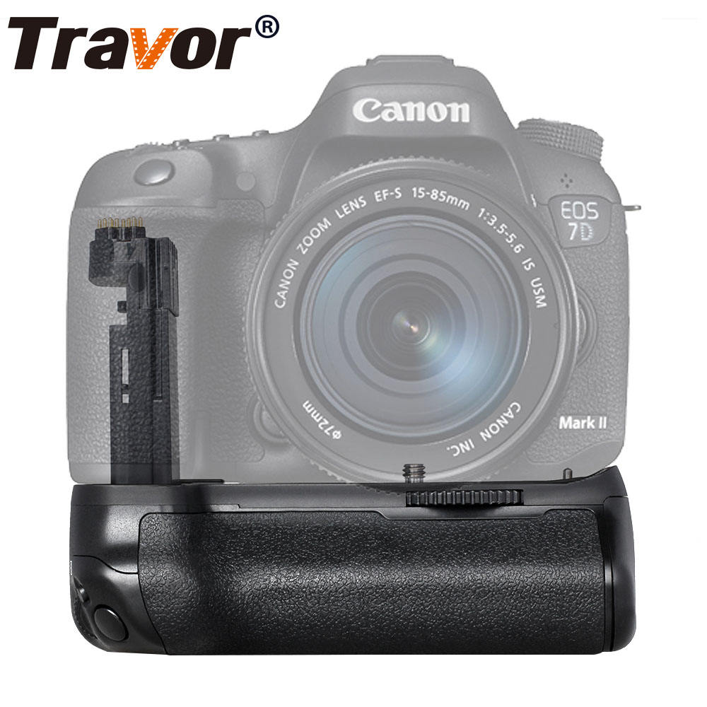 Travor Profesional Camera Accessories Power Holder Battery Grip For Canon Eos 7D Mark II 7DII 7D2 Replacement BG-E16