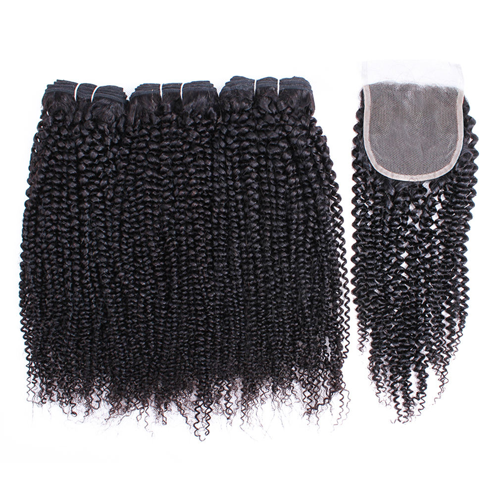 Large Stock Brazilian Virgin Hair Bundles With Closure , Factory Wholesale Price Cuticle Aligned Virgin Hair Different Texture