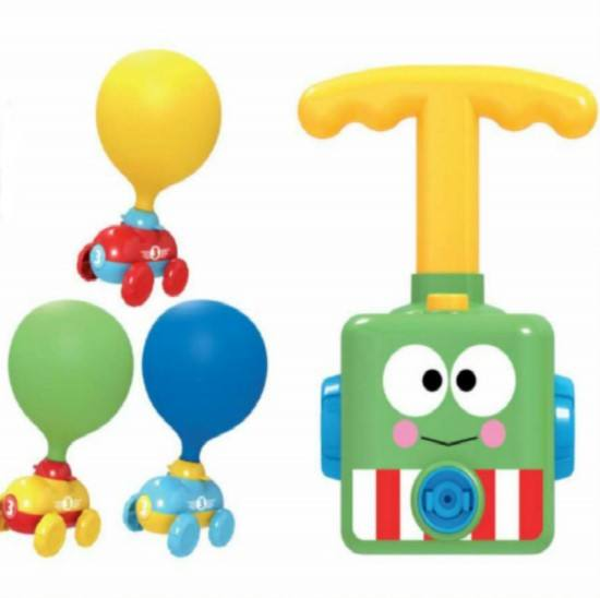 Pneumatic Powered Balloon Car Toy Intelligence Blow Air Compressed Power Vehicle Balloon Car