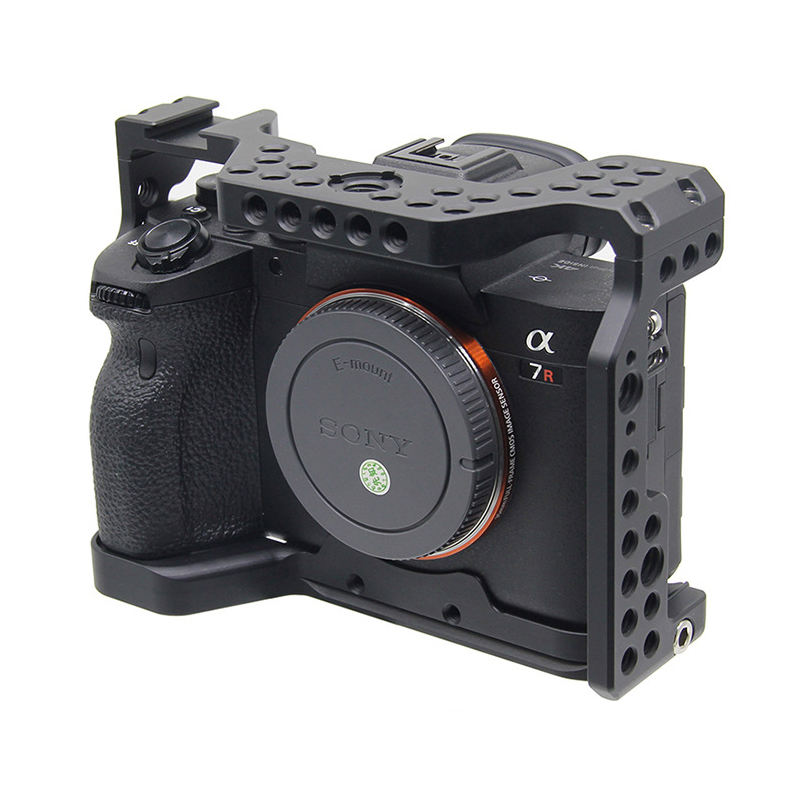 Easyhood Camera Kooi voor Sony A7R4 Beschermen Case Extension Behuizing voor Vlog LED Light Microfoon <span class=keywords><strong>DSLR</strong></span> Camera <span class=keywords><strong>Accessoires</strong></span>