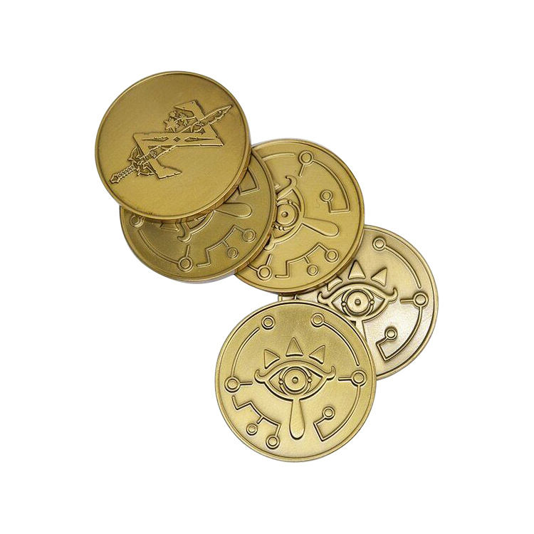China Factory Wholesale Cheap Price Souvenir Gold Coin Challenge Game Legend of Zelda Coin