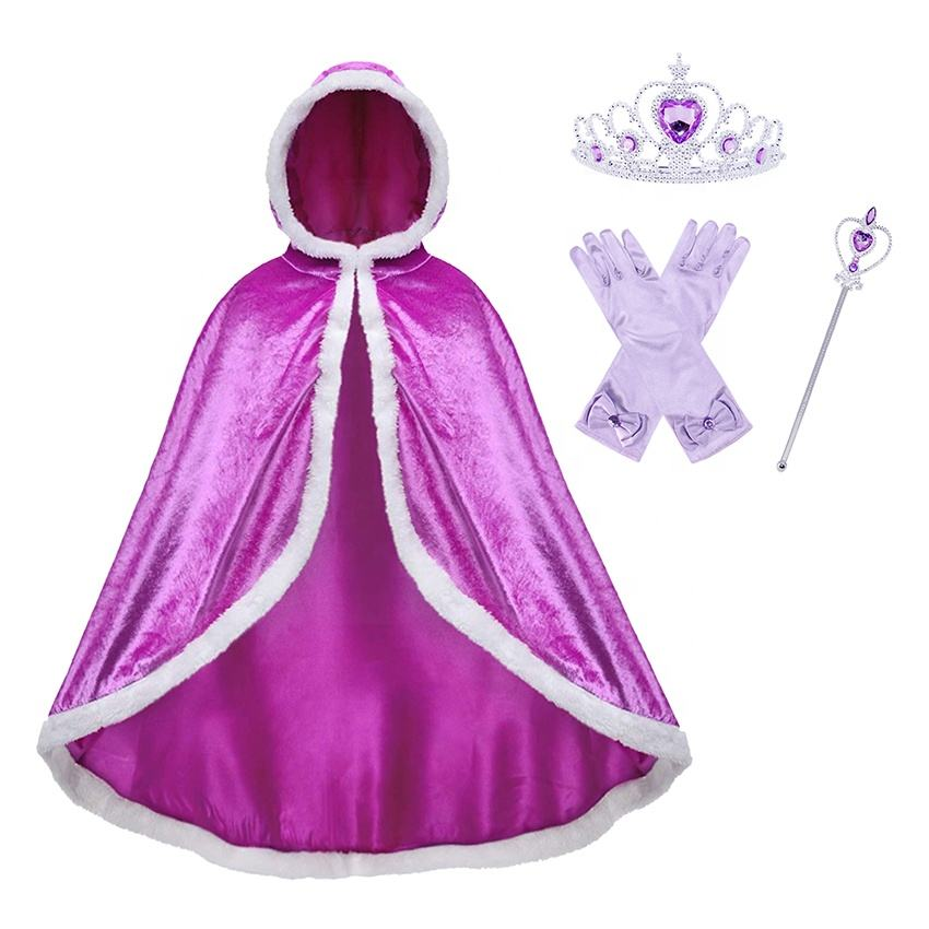 Nouvelle Fille Princesse Cappa tenues Cosplay habiller Décorations Enfants Automne Hiver <span class=keywords><strong>Manteau</strong></span>