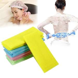 O-188 30*90cm Body Washing Clean Exfoliate Scrubbing Massage Towel Nylon Mesh Bath Shower Towel
