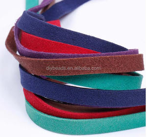 Factory price 10mm Width Korean flat Faux Suede Leather Cord Jewelry Accessories for DIY Jewelry making
