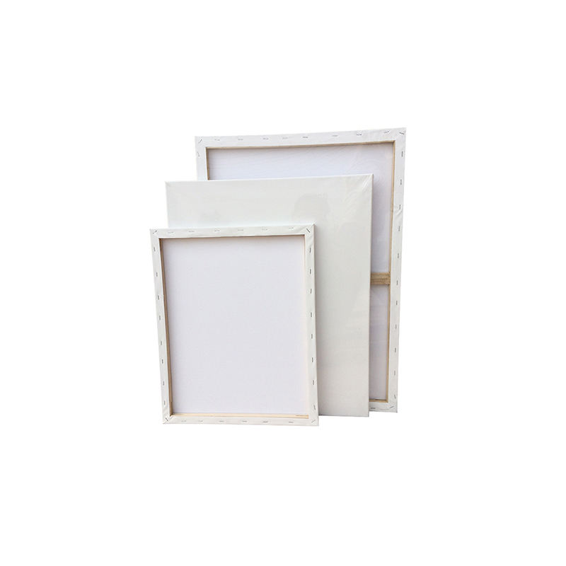 YIhuale Different Size Wood Frame Quality 280g Cotton Stretched Blank Art Canvas for Painting