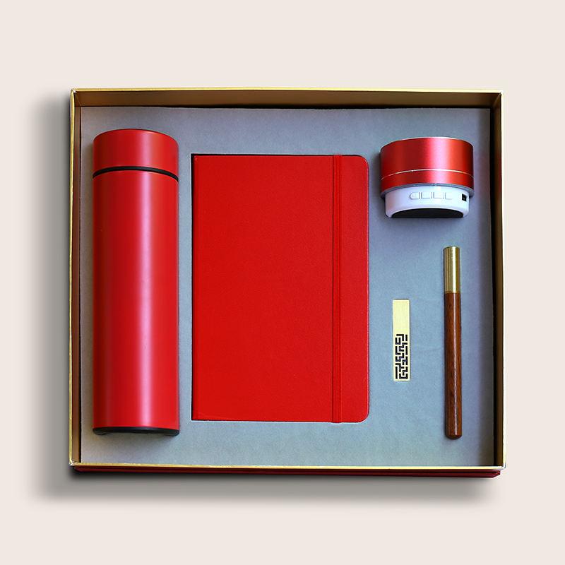 Notebook/Vacuum Flask/Sound USB Flash Drive Ballpen Business Gift Set