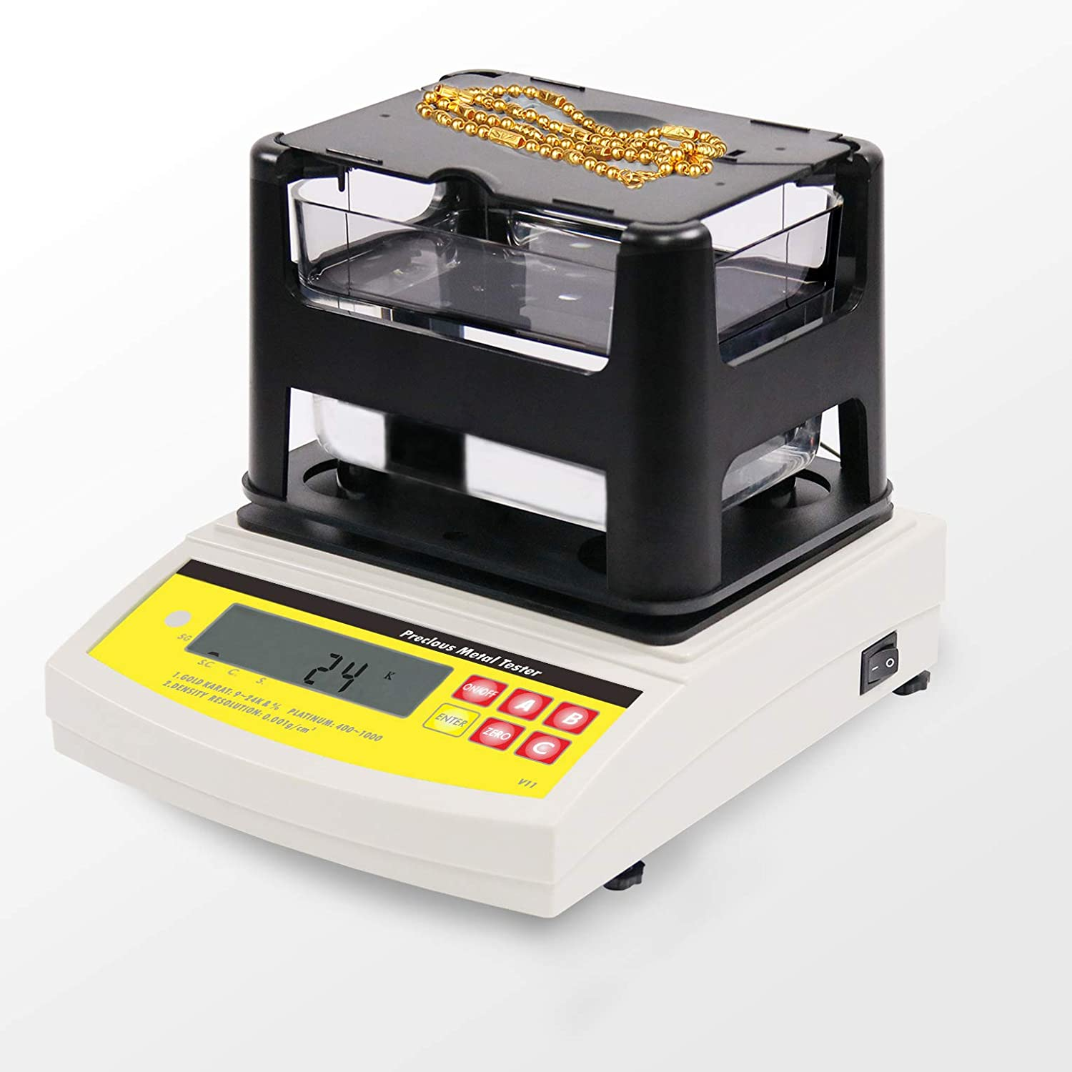 Digital Electronic 1200g Gold Silver Purity Testing Machine Price