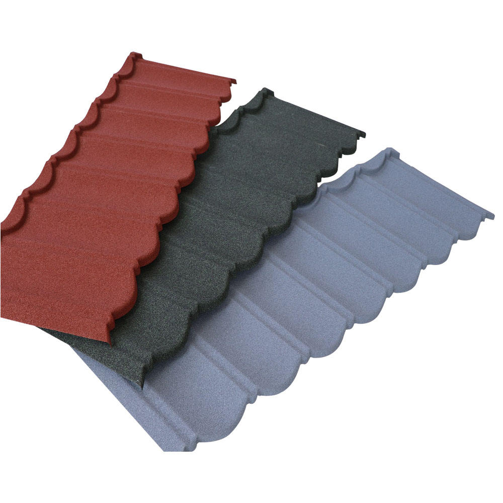 Waterproof Corrugated Metal Sheet Roofing Tile Insulated 40 years Durable Colorful Stone Coated Metal Roofing Tile