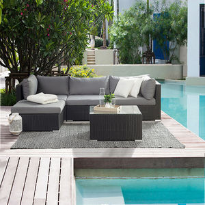 outdoor 4 Seater Rattan patio Corner Sofa Set garden sofa rattan