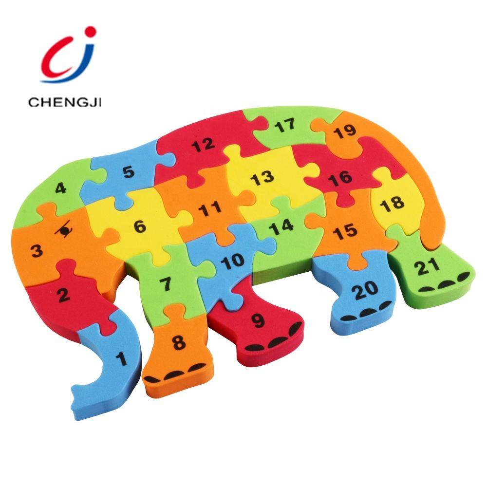 2020 Best Selling Alphabet Number Elephant Eva Jigsaw Puzzle Board, Puzzle 3d Educational Toys For Children